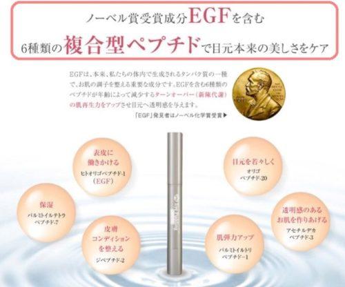 EGFやペプチド成分配合