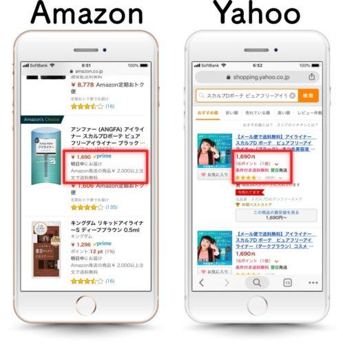 Amazon、ヤフー価格比較
